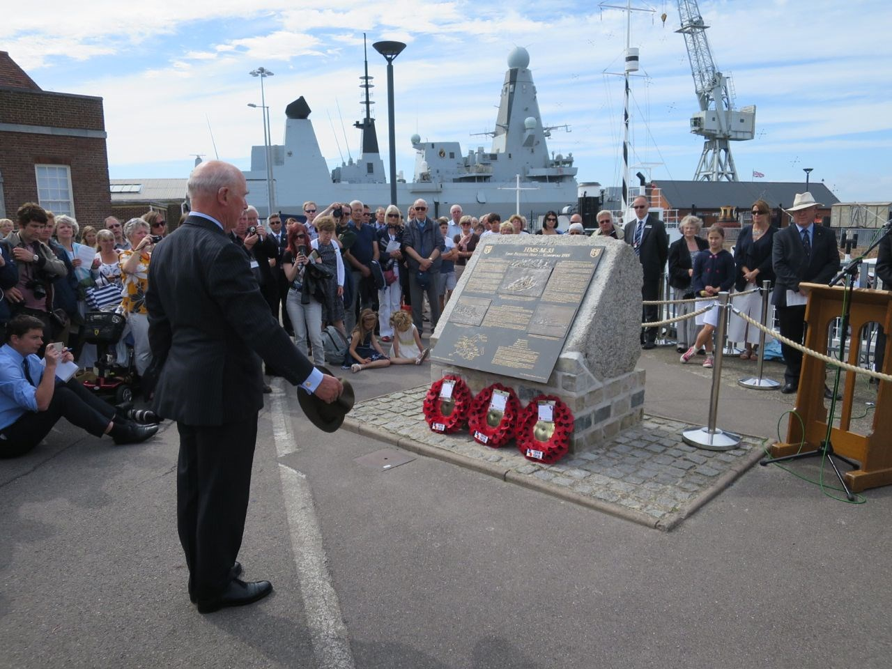 Monitor HMS 'M33' Inauguration at Portsmouth