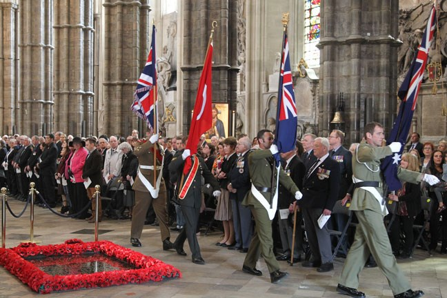 Anzac Day - Westminster Abbey, London