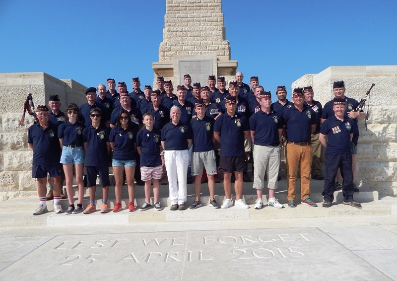 THREE GENERATIONS COMMEMORATE - KOSB at Gallipoli