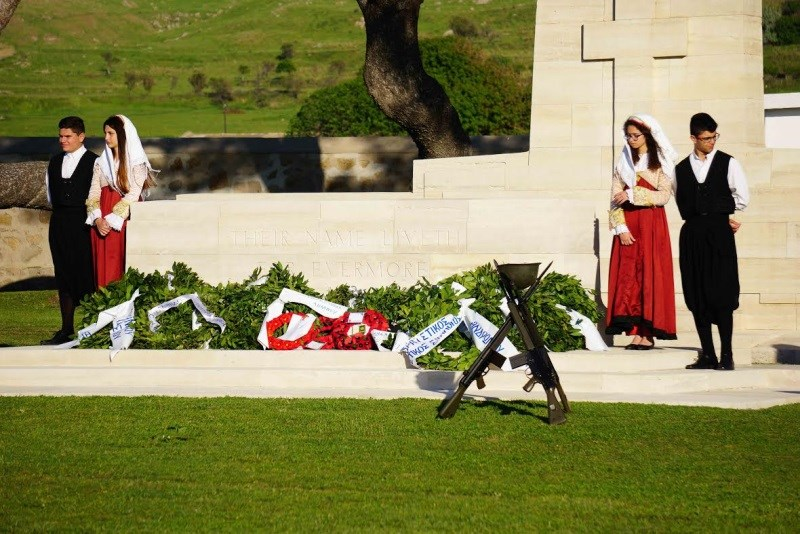 Report on Anzac Day on Lemnos 2016